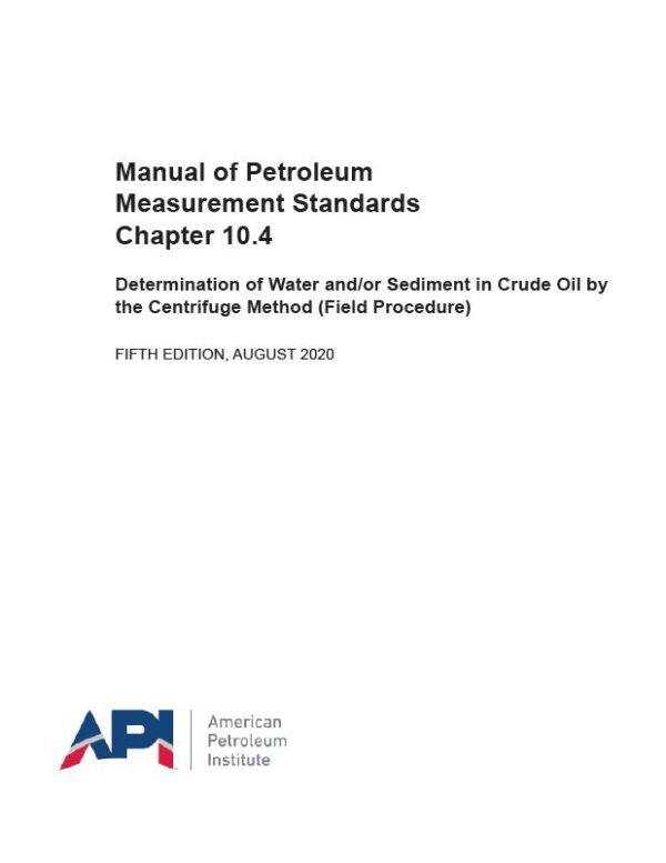 API MPMS 10.4_2020