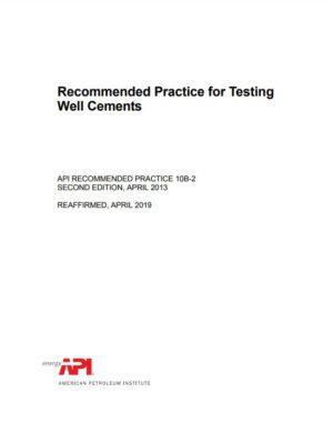 API RP 10B-2_2013