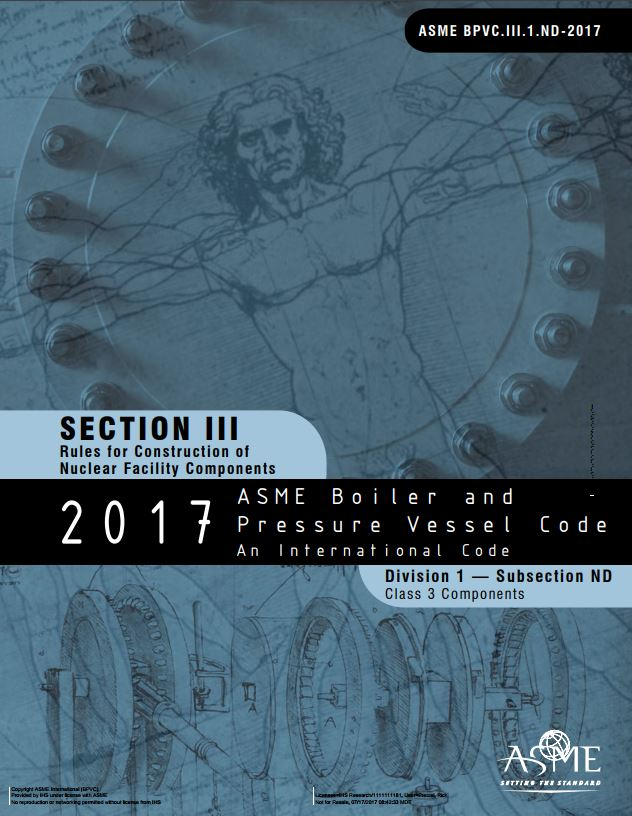 Asme bpvc iii subsection nd class 3 components 2017 paper kreisler publications - Asme viii div 1 ...