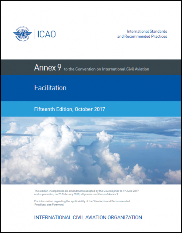 ICAO Annex 9 – Facilitation