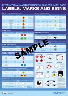 IMO IMDG Code Labels, Marks and Signs
