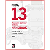 NFPA 13 – Automatic Sprinkler Systems Handbook, 2019 Edition