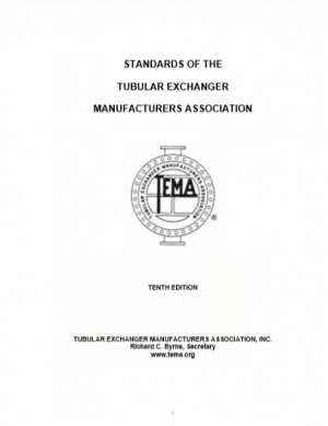 Standards of the Tubular Exchanger Manufacturers Association