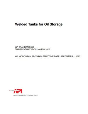 API STD 650 2020