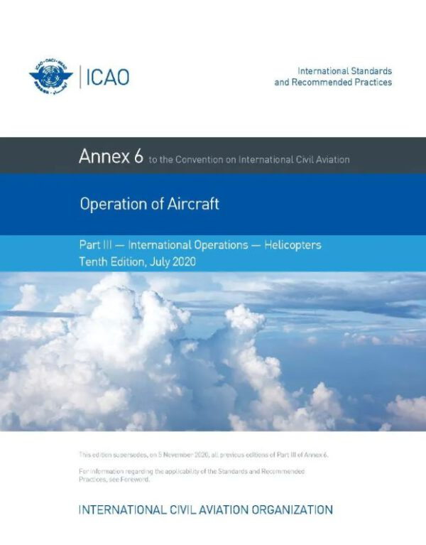 ICAO Annex 6-3 – 2020