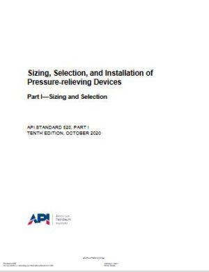 API STD 520P1 2020