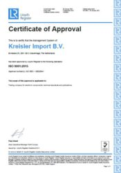 LR ISO 9001 - Certificate of Approval